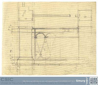 Javier de Winthuysen (1874-1960) | Material gráfico; Dibujo de la barandilla de hierro del Palacete de la Moncloa