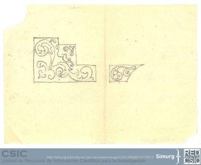 Javier de Winthuysen (1874-1960) | Material gráfico; Dibujo de un parterre