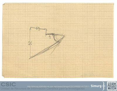 Javier de Winthuysen (1874-1960) | Material gráfico; Planta de un jardín triangular