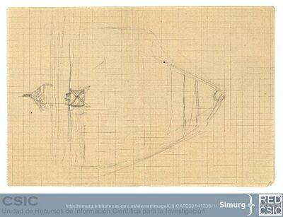 Javier de Winthuysen (1874-1960) | Material gráfico; Boceto de superficie del Jardín
