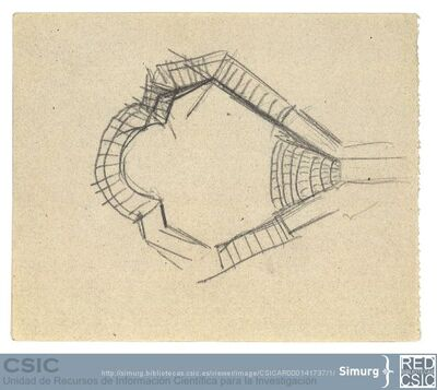 Javier de Winthuysen (1874-1960) | Material gráfico; Boceto de un estanque