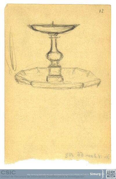 Javier de Winthuysen (1874-1960) | Material gráfico; Dibujo de una fuente