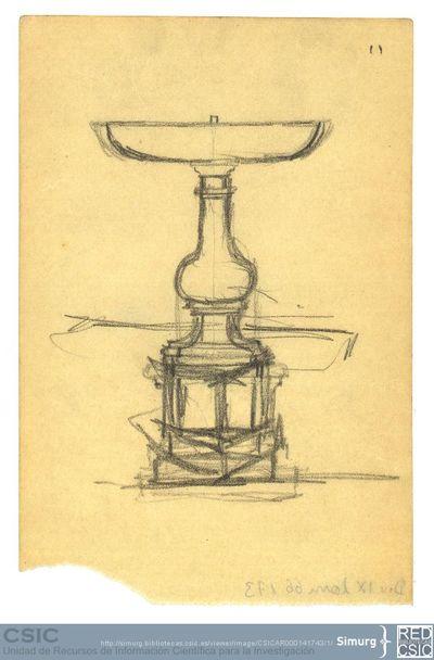Javier de Winthuysen (1874-1960) | Material gráfico; Boceto de fuente