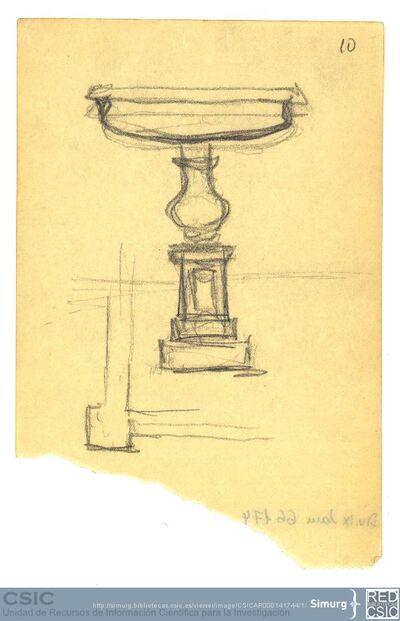 Javier de Winthuysen (1874-1960) | Material gráfico; Dibujo de fuente