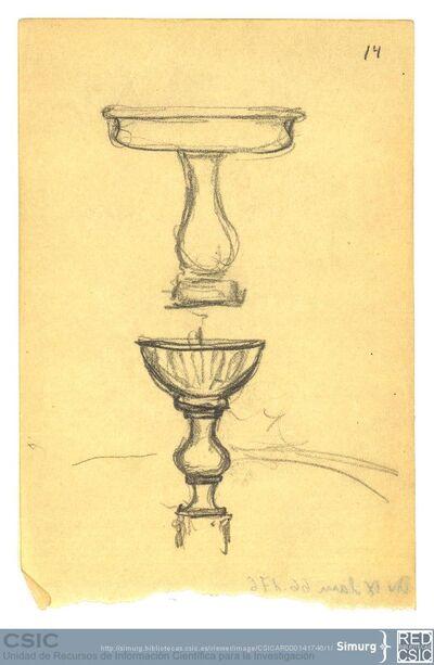 Javier de Winthuysen (1874-1960) | Material gráfico; Dibujo de fuentes