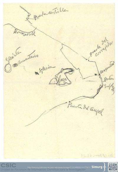 Javier de Winthuysen (1874-1960) | Material gráfico; Plano de situación de la Casa de Campo