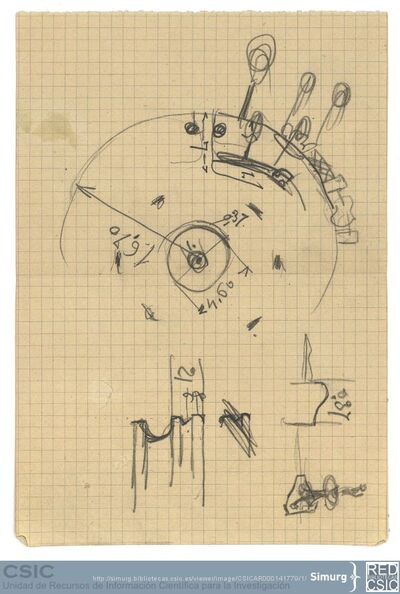 Javier de Winthuysen (1874-1960) | Material gráfico; Detalle de fuente en la Casa de Campo