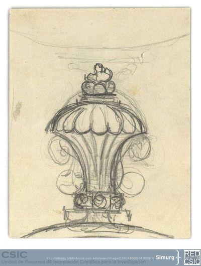 Javier de Winthuysen (1874-1960) | Material gráfico; Boceto de surtidor