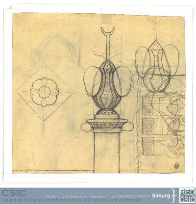 Javier de Winthuysen (1874-1960) | Material gráfico; Detalle de un surtidor