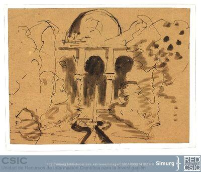 Javier de Winthuysen (1874-1960) | Material gráfico; Dibujo de jardín de inspiración andaluza