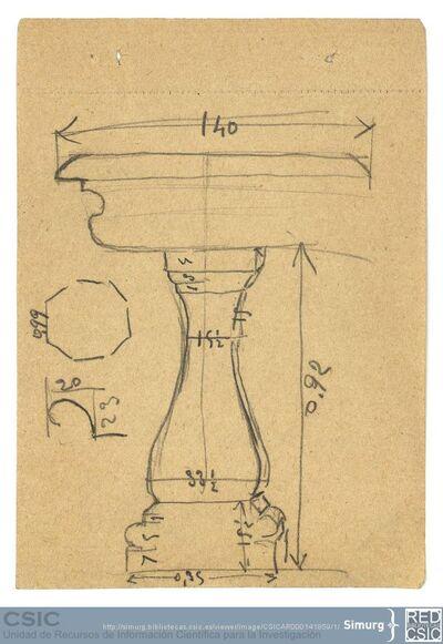 Javier de Winthuysen (1874-1960) | Material gráfico; Dibujo de pila