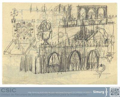 Javier de Winthuysen (1874-1960) | Material gráfico; Boceto de jardines
