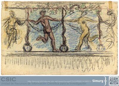 Javier de Winthuysen (1874-1960) | Material gráfico; Friso de bailarines