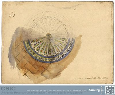 Javier de Winthuysen (1874-1960) | Material gráfico; Boceto de una fuente circular