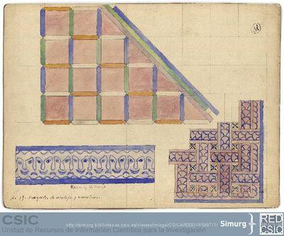 Javier de Winthuysen (1874-1960) | Material gráfico; Dibujos para azulejos y mosaicos