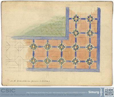 Javier de Winthuysen (1874-1960) | Material gráfico; Dibujo de un zócalo de una fuente