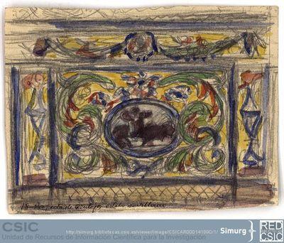 Javier de Winthuysen (1874-1960) | Material gráfico; Diseño de azulejos de estilo sevillano
