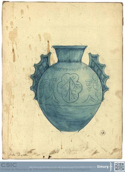 Javier de Winthuysen (1874-1960) | Material gráfico; Dibujo de jarrón ornamental para jardín