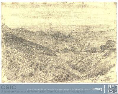 Javier de Winthuysen (1874-1960) | Material gráfico; Dibujo de un paisaje natural