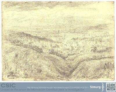 Javier de Winthuysen (1874-1960) | Material gráfico; Vista de la ciudad de Barcelona