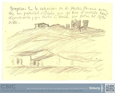 Javier de Winthuysen (1874-1960) | Material gráfico; Vista de Oropesa