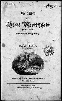 Geschichte der Stadt Neutitschein (Nowý Jičín) und deren Umgebung