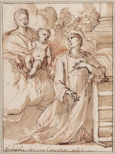 Madonna en Kind verschijnen aan Laurentius