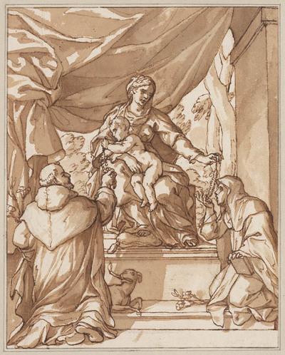 Madonna en Kind met Domenicus en Catharina van Siena