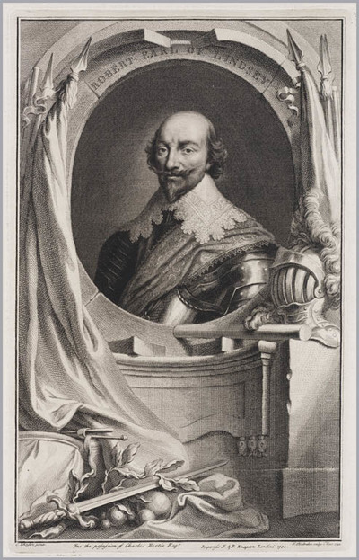 The Heads of Illustrious persons: Robert graaf van Lindsey