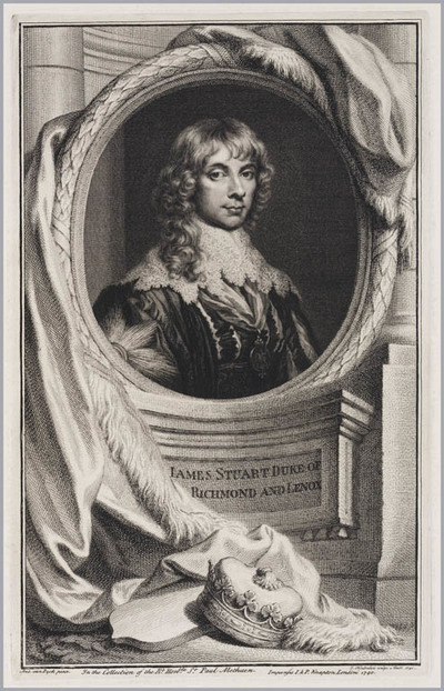 The Heads of Illustrious persons: James Stuart hertog van Richmond en Lenox