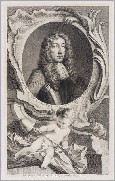 The Heads of Illustrious persons: Antony Ashley Cooper graaf van Shaftesbury