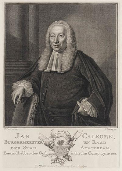 Portret Jan Calkoen, burgemeester Amsterdam