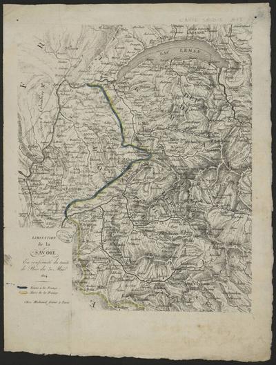 Limitation de la Savoie en conformité du traité de paix du 30 avril 1814