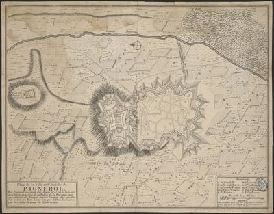 Plan de la ville et citadelle de Pignerol
