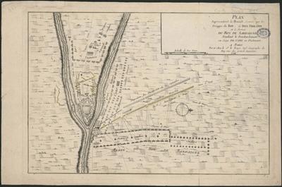 Plan représentant la bataille donnée par les trouppes du Roy,…