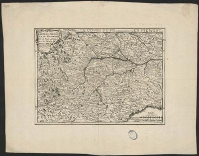 Carte du Piémont et du Monferrat, de la Rép. de Gênes avec les Estats de Nice et Milan