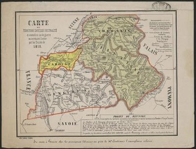 Carte du territoire savoisien neutralisé…