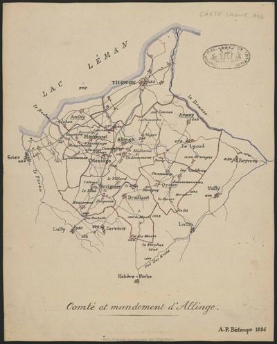Comté et mandement d'Allinge
