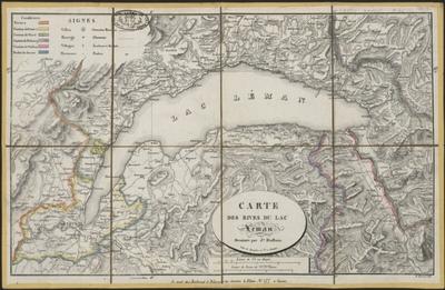 Carte des rives du Léman