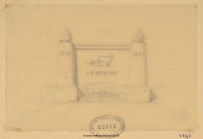[Monument funéraire à] J.P. Durvat (1763-1831)