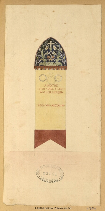 [Tombe d'Elisa Herbin (1814-1834)]