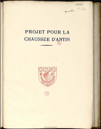 Projet pour la Chaussée d'Antin