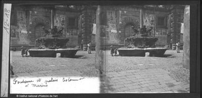 Fontaine et palais Colonna à Marino