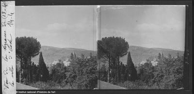 [Tivoli] Vue de la terrasse de la Villa d'Este