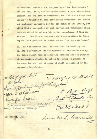 Anglo-Irish Treaty 1921