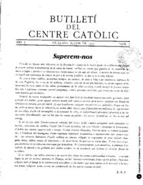 Butlletí del Centre Catòlic