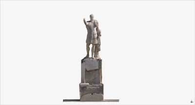 3D model of statue of Marco Nonio Balbo at Herculaneum
