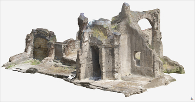 3D model of Upper floor of Roman Buildings at Naples (Carminiello ai Mannesi)
