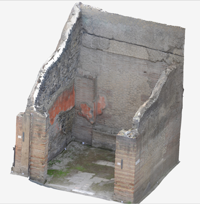 3D model of Sacello at Herculaneum