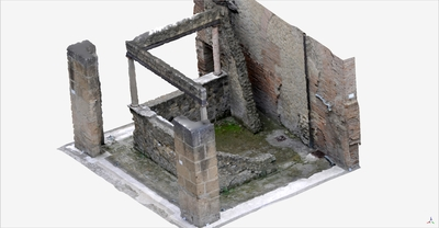 3D model of Triclinio at Herculaneum